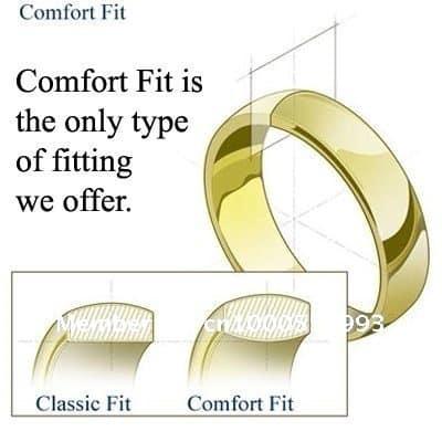 Tungsten Ring In Amazing 2 part brushed & Polished Interlocking Design