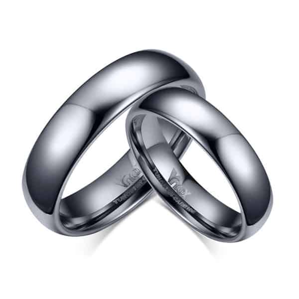 His Hers Tungsten Wedding Bands Simpletungstenrings