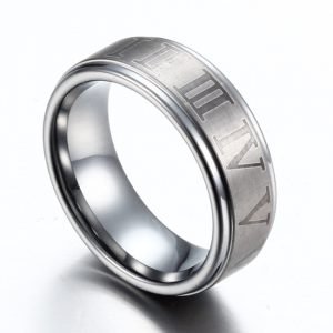 SHARDON-Men-s-Edged-font-b-Tungsten-b-font-Wedding-Band-With-Brushed-font-b-Roman-1