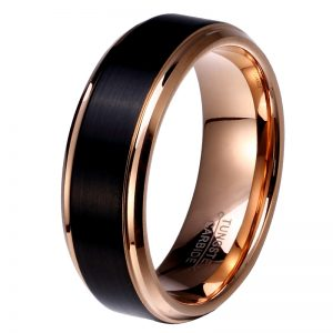 8mm-6mm-4mm-Black-Rose-Gold-Plate-font-b-Tungsten-b-font-Carbide-Wedding-font-b-1