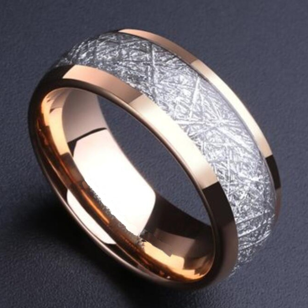 It is just a picture of 32mm Meteorite Inlay Rose Gold Tungsten Wedding Band